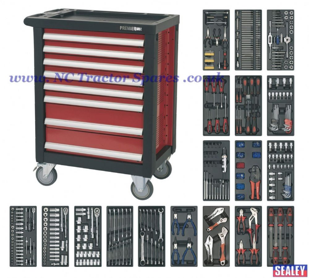 Rollcab 8 Drawer with Ball Bearing Runners & 707pc Tool Kit